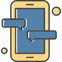 chat, message, mobile, phone