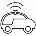 car, internet, iot, smart car, vehicle, wifi icon