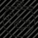 fish, food, iot, pot, sensor icon