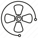 fan, turbine, wind icon