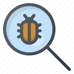bug, internet, protection, search, security, virus, web icon