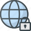 internet, lock, network, protection, security, web icon