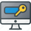 add, internet, network, password, protection, security icon