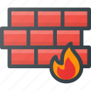 firewall, internet, network, protection, security icon