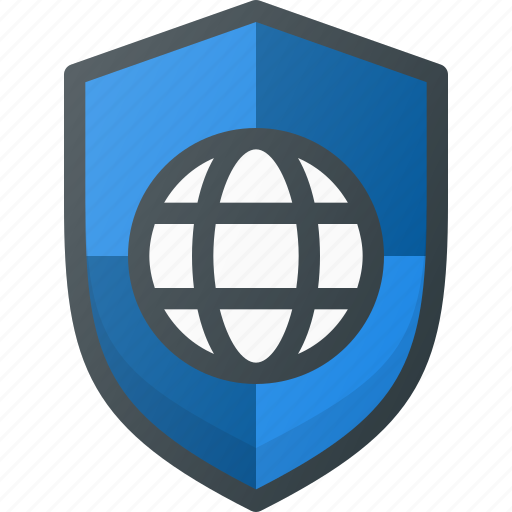 global, internet, network, protection, security, web icon