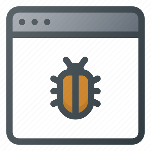 bug, infected, internet, protection, security, web, website icon