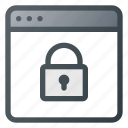 internet, lock, network, protection, security, web, website icon