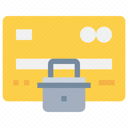 credit card, padlock, payment, secure, security icon