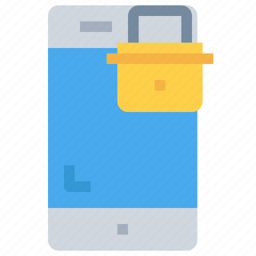mobile, padlock, secure, security, smartphone icon
