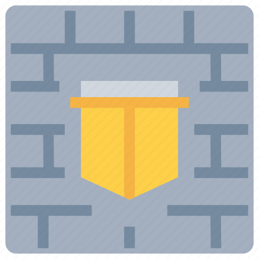 firewall, protect, secure, security, wall icon