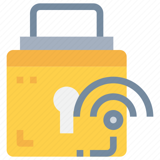 connect, network, padlock, secure, security icon