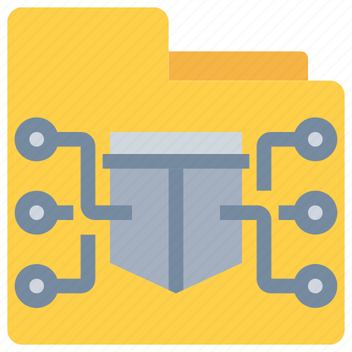 data, folder, network, protection, secure, security icon