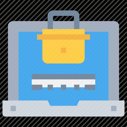 laptop, login, padlock, secure, security icon