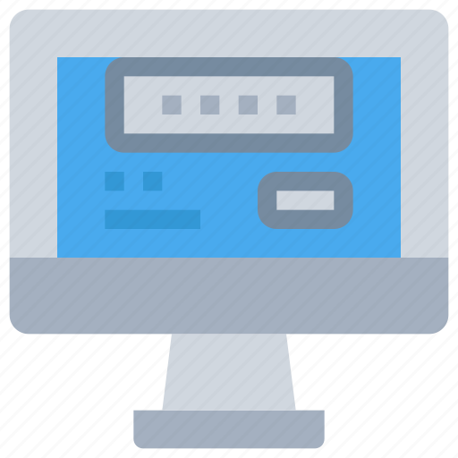 computer, login, secure, security icon
