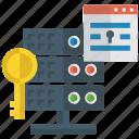 database encryption, database security, dataserver, encryption key, password, protection icon