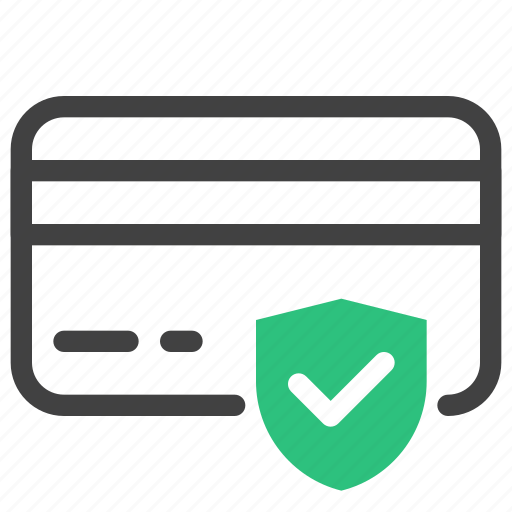 card, check, credit, internet, security, shield, verified icon