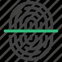 fingerprint, internet, login, scan, security icon