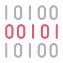 binary, coding, lock, programming, secure icon
