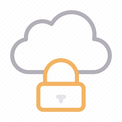 cloud, database, lock, private, protection icon