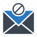 banned, block, mail, message, notallowed icon