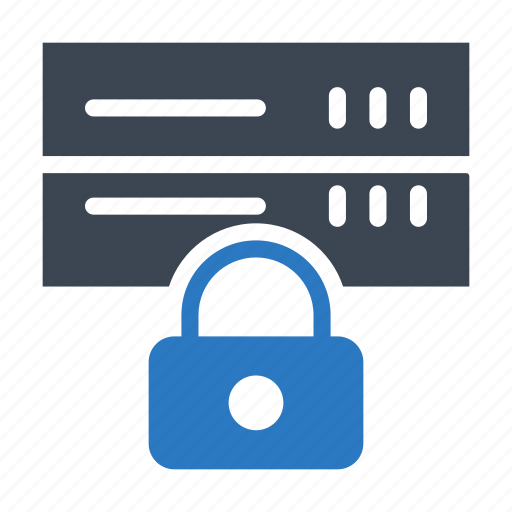 database, lock, private, protection, server icon