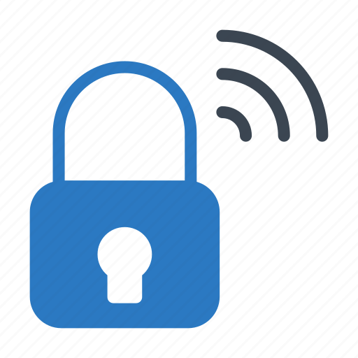 lock, private, protection, secure, wireless icon
