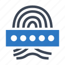 biometric, biometrics, fingerprint icon