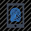 fingerprint, mobile, phone