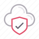 cloud, private, protection, security, shield