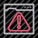 alert, browser, error, warning, webpage