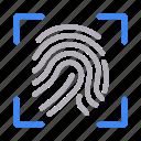 fingerprint, identity, lock, protection, scan