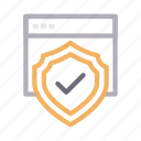 browser, internet, protection, secure, webpage icon