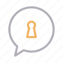 chat, keyhole, lock, private, secure