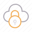 cloud, lock, private, protection, secure