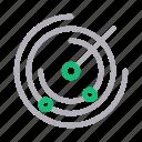 nearby, orbit, radar, satellite, scan