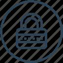 lock, password, private, security