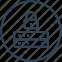 database, lock, security, server icon