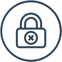 insecure, lock, risk, unsafe icon