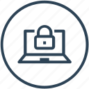 encryption, laptop, lock, security