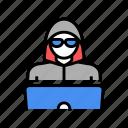laptop, computer, security, work, internet, hacker