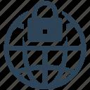 internet, security, globe, protection, lock