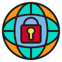business, data, information, lock, network, world