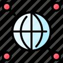 internet, comunication, network, globe, world icon