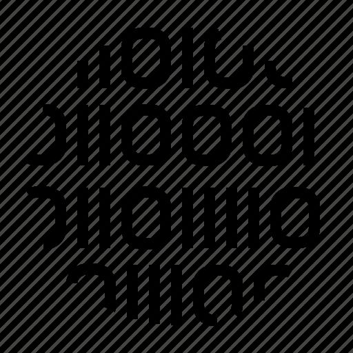binar, code, one, zero icon