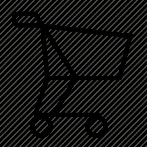 basket, cart, handcart, shopping icon
