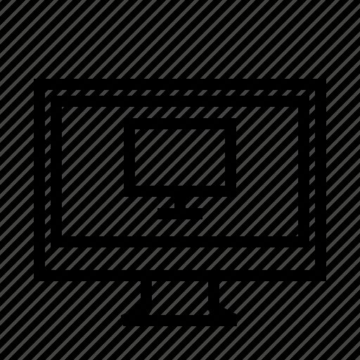 desktop, monitor, remote, screen icon