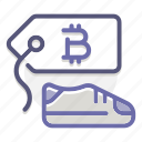 accepted, bitcoin, commerce, market, pricing, purchasing, shop icon