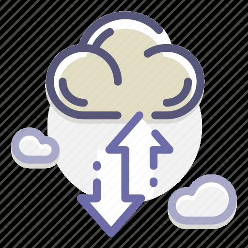 backup, cloud, computing, file, hosting, server, transfer icon