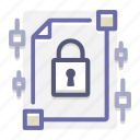 document, encrypted, encryption, file, locked, protected, security icon