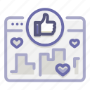approval, campaign, media, popular, social, viral, virality icon